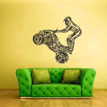 Wall Vinyl Sticker Decals Decor Art Bedroom Design Quad Sport Dirty Moto Trick Motorcycle ATV Gift Boy (z2239)