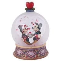 Disney Traditions designed by Jim Shore for Enesco Mickey and Minnie Soda Shop Waterball 6 IN