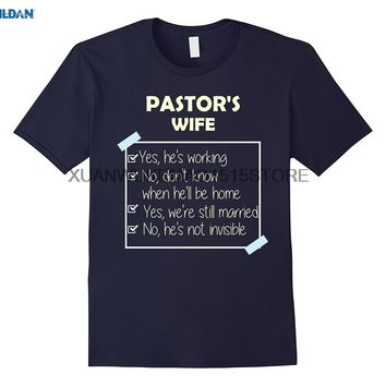 Pastors wife Yes hes working t shirt