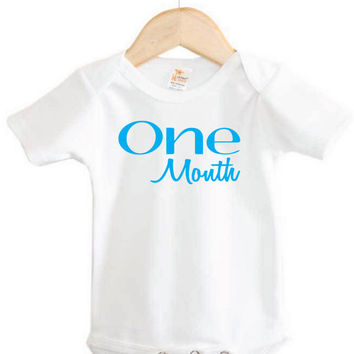 One Month to One Year Onesuits // Set of 12 Baby Onesuits // monthly Onesuits // baby Onesuits