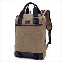 Hot Selling High Quality Canvas And Leather Backpacks Shoulder Bags Vintage Women Backpack Daily Travel Bags