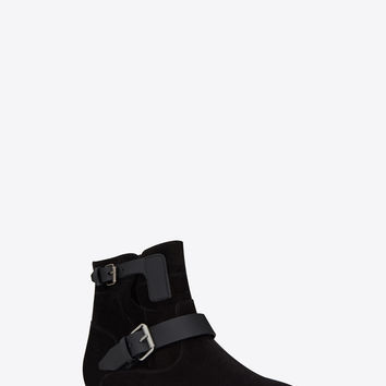 MATT 10 ankle boots in black suede and leather