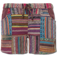 Women's Patchwork Shorts: Soul Flower Clothing