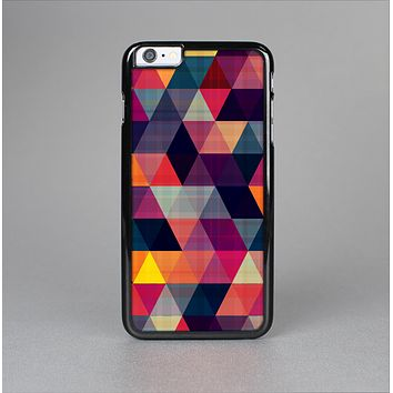 The Vector Triangular Coral & Purple Pattern Skin-Sert Case for the Apple iPhone 6 Plus