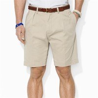 Polo Ralph Lauren Classic-Fit Pleated 9'' Chino Short at Von Maur