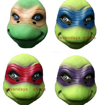 Teenage Mutant Ninja Turtles Mask Leo Rap Mike Don Mask Funny Party Masks For Adults Dance Props halloween Cosplay Party