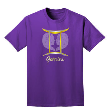 Gemini Symbol Adult Dark T-Shirt