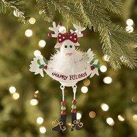 Glitter Girl Reindeer Ornament