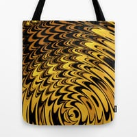 Liquidelica | Orange+Black Tote Bag by Webgrrl