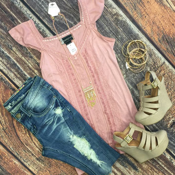 Down to Earth Tank: Dusty Rose
