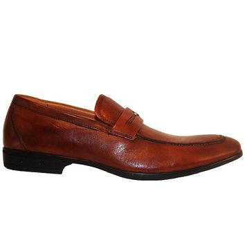 Florsheim Burbank Penny - Brown Leather Moc Toe Loafer