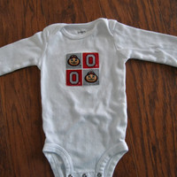 Cotton baby bodysuit, Ohio State Longsleeved Onesuit