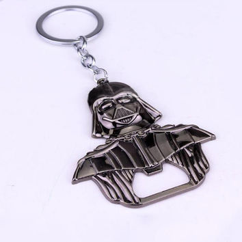 New Style Design Star Wars Darth Vader Keychain Bottle Opener Alloy Key Rings for Fans