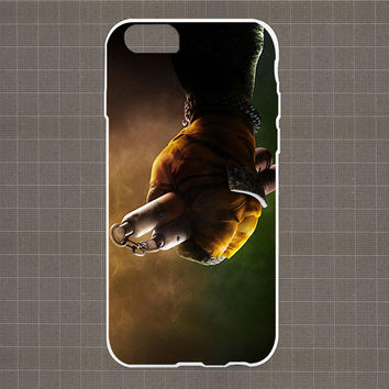 Teenage Mutant Minja Turtles HEND Yellow iPhone 4/4S, 5/5S, 5C Series Hard Plastic Case