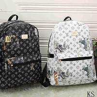 LV Fashion Leather Daypack  Travel Bag School Bag Bookbag Backpack I-MYJSY-BB