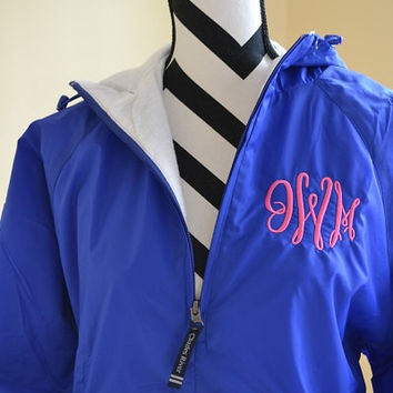 Monogram Pullover Wind/Rain Jacket