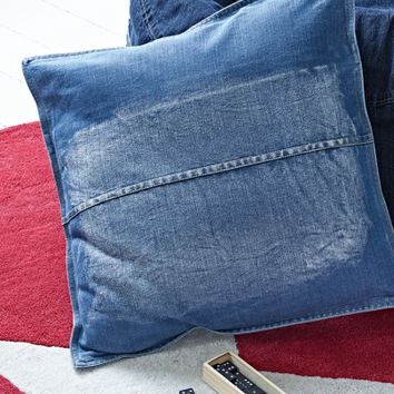 Square Denim Cushion - Indoor Living