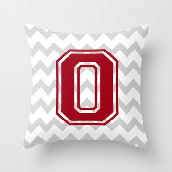 Ohio State University Pillow Cover Graduation Gift Throw Zipper Double Sided Custom Convert ANY Print TRM Design 16x16 18x18 20x20 26x26