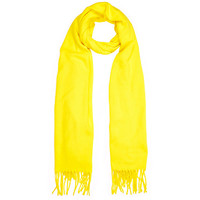 River Island Womens Yellow supersoft blanket scarf