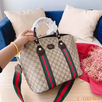 HCXX 19Oct 055 Gucci Knit Strap Crossbody Pouch Handle Fashion Tote Bag