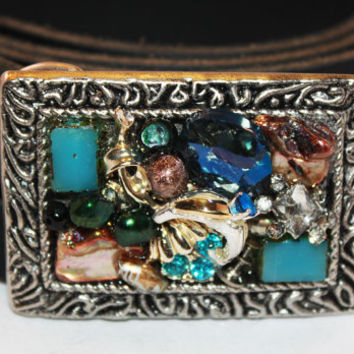 Jeweled Belt Buckle