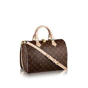 ESBHB6 Louis Vuitton Monogram Canvas Speedy Bandouliere 30 M41112  Louis Vuitton Handbag