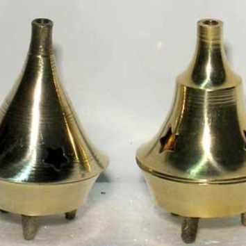 Brass Cone Incense Burner 2 1-4""