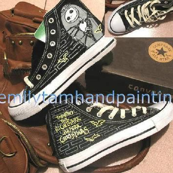 the nightmare before christmas custom converse shoes hand painting high top converse