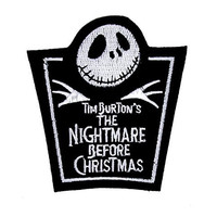 Nightmare Before Christmas Tombstone Patch Iron On Applique