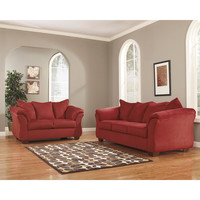Darcy Living Room Set in Salsa Fabric