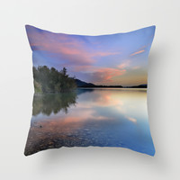 Spring clouds Throw Pillow by Guido Montañés
