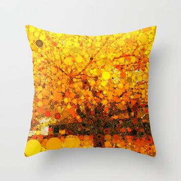 :: It Was All Yellow :: Throw Pillow by :: GaleStorm Artworks ::