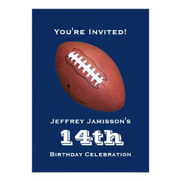 shop football birthday party invitation on wanelo