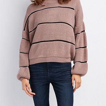 Striped Shaker Stitch Sweater