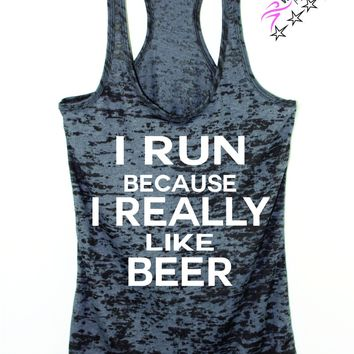 I Run Because I Really Like Beer Women's Running tank top