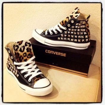 DCCKHD9 Custom studded black Converse Chuck Taylors by KillerCreationz