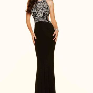 Mori Lee Jersey Fitted Dress 98075