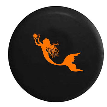 Mermaid Sea Ocean Swimming Seashell Girl RV Camper Jeep Spare Tire Cover