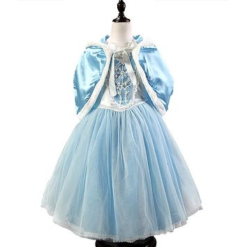 Girls Children Dress Kids Party Dress Vestidos Cosplay Baby Elsa Girls Princess Dresses Kids Christmas Anna Kids Wedding Dresses