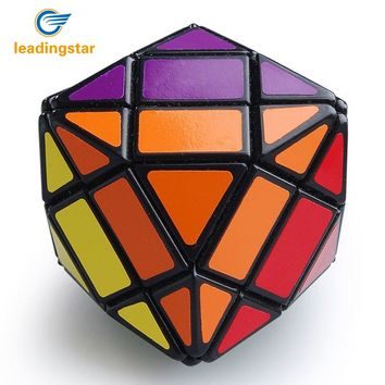 LeadingStar  4x4x4 Rhombic Dodecahedron 4 Layer  Magic Cube Black Hot Selling Intelligence Twisty Toy cubo magico Free Shipping