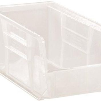 """Quantum Storage Systems Stack And Hang Bin, 10-7-8"""" X 5-1-2"""" X 5"""", Clear"""