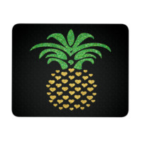 "Pineapple Hearts Mouse Pad 9.25"" x 7.75"" 1/4 Thickness"