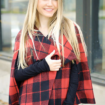 Sheeran Plaid Capelet (Jack By BB Dakota)
