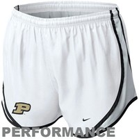 Nike Purdue Boilermakers Womens Tempo Performance Shorts - White