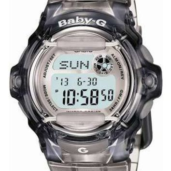 New Casio Baby-G Whale - Ash Crystal Color - World Time Chronograph - 200 Meters