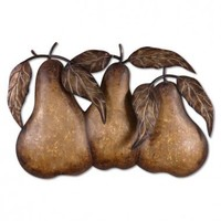 Uttermost Three Pears Wall Art in Antiqued Tan - 13580