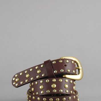Wild Daze Leather Studded Belt