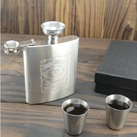 Jack Daniel's Print Stainless Steel Whisky Flask