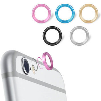 Jewelry Rear Camera Glass Metal Lens Protector Hoop Ring Guard Circle Case Cover For iphone 6 4.7 & plus 5.5 Inch Retail Package