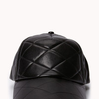 Cool Girl Faux Leather Cap